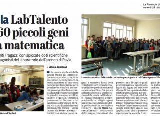 """La provincia di Cremona – """"LabTalento per 60 piccoli geni della matematica"""""""