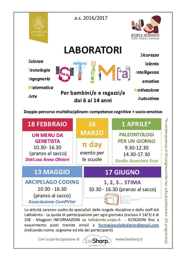 Locandina laboratori STIMA 2017