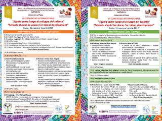 Pubblicato il programma completo del VII Congresso internazionale sulla plusdotazione