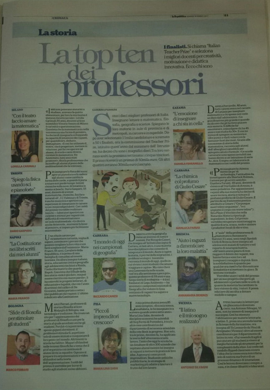 Italian Teacher Prize: i 10 finalisti