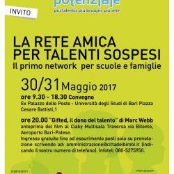 30/31 maggio: evento per scuole e famiglie a Bari