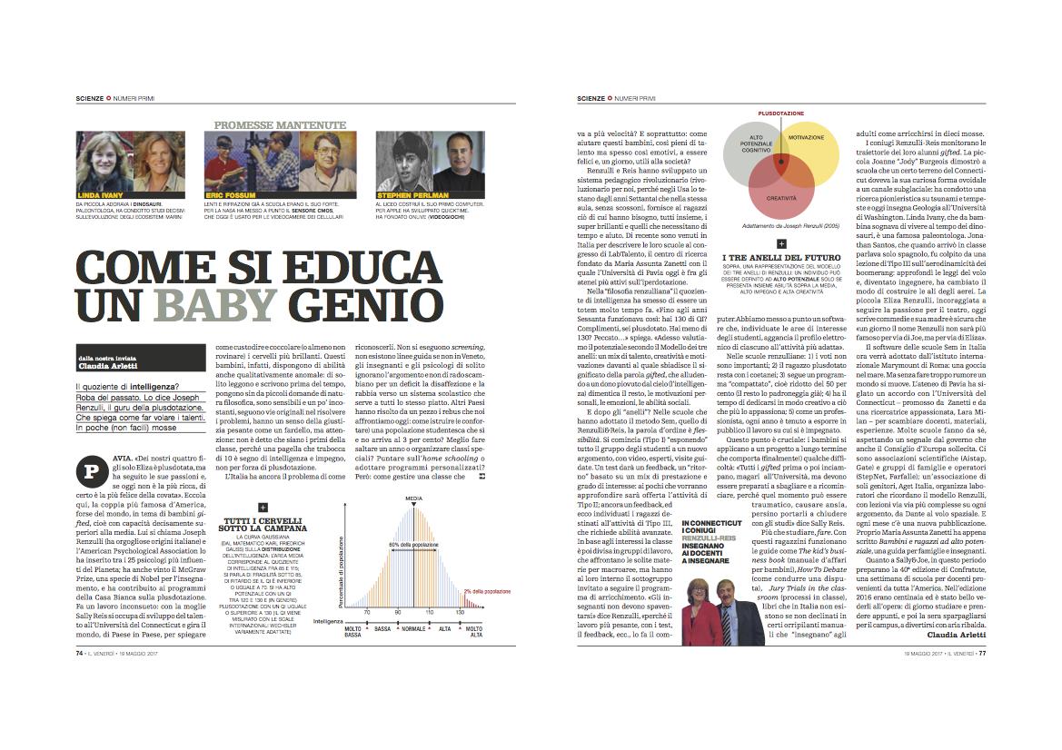 Venerdì di Repubblica: Come si educa un baby genio