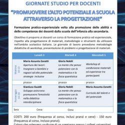 3/4/5 Luglio: GIORNATE DI STUDIO PER DOCENTI