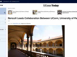 Renzulli Leads Collaboration Between University of Connecticut and University of Pavia