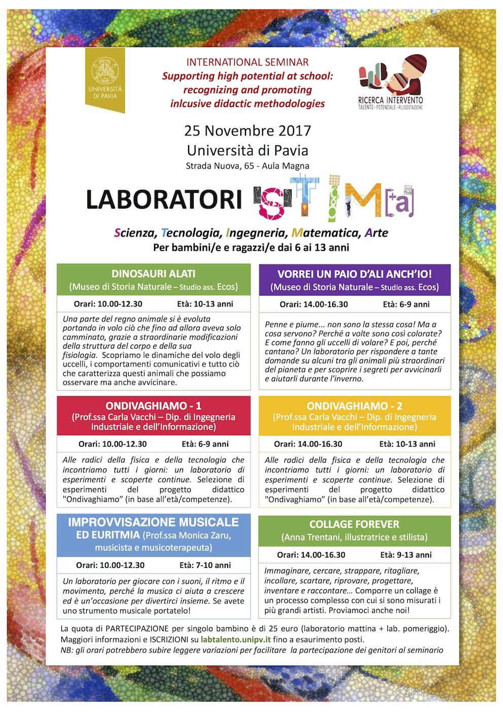 Locandina 25.11.2017 Laboratori STIMA