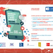 26/27.01.2018, Milano: formazione su BULLISMO E CYBERBULLISMO