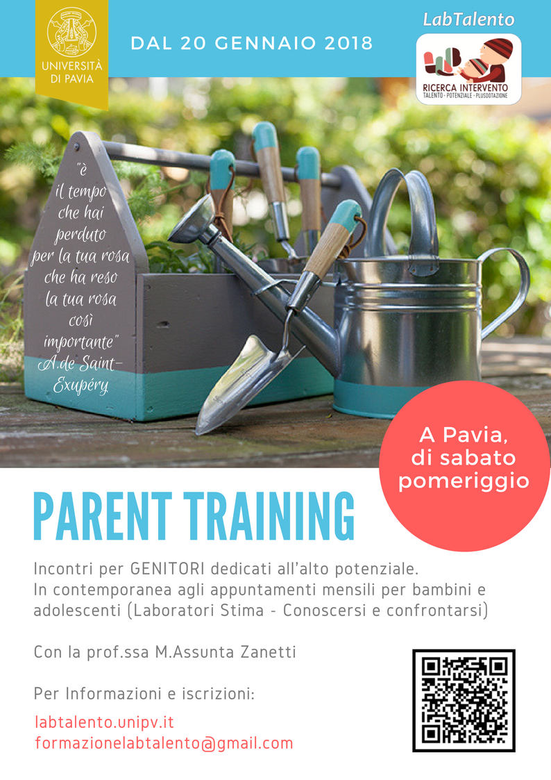 Parent training - locandina