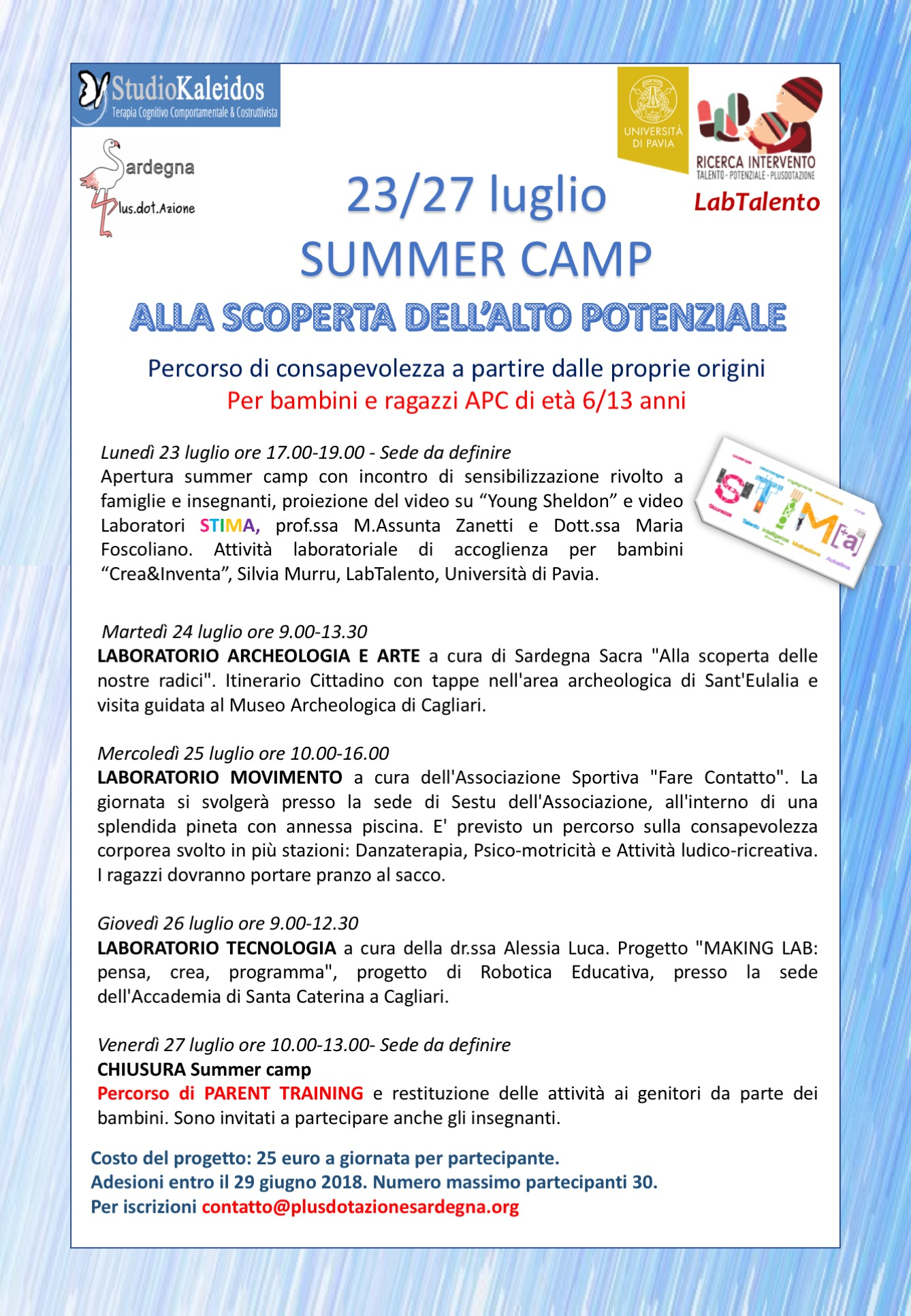 Summer Camp in Sardegna