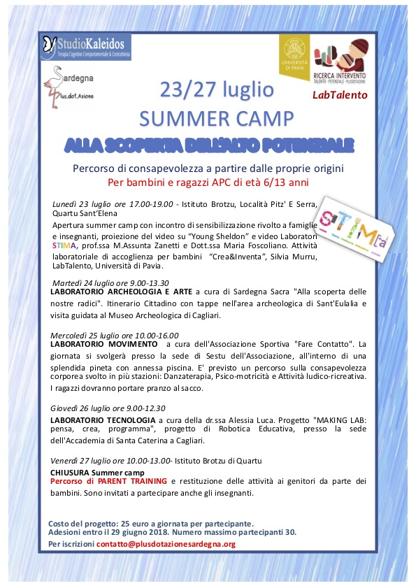 Locandina_summer camp 2018 _Sardegna2