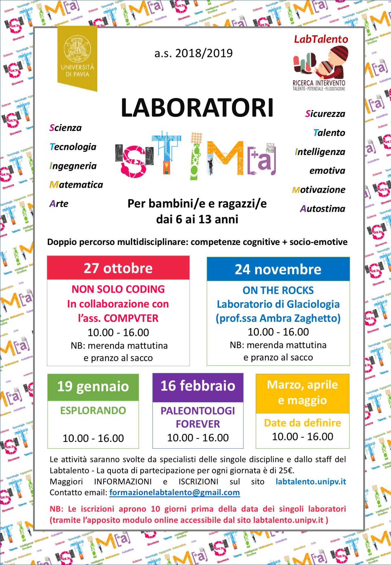 Locandina Laboratori STIMA as2018-2019