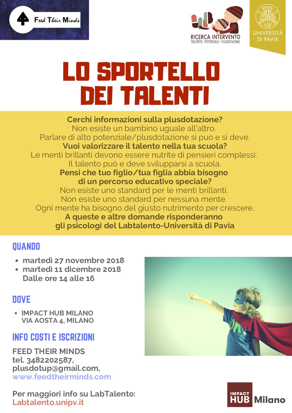Sportello dei talenti MILANO