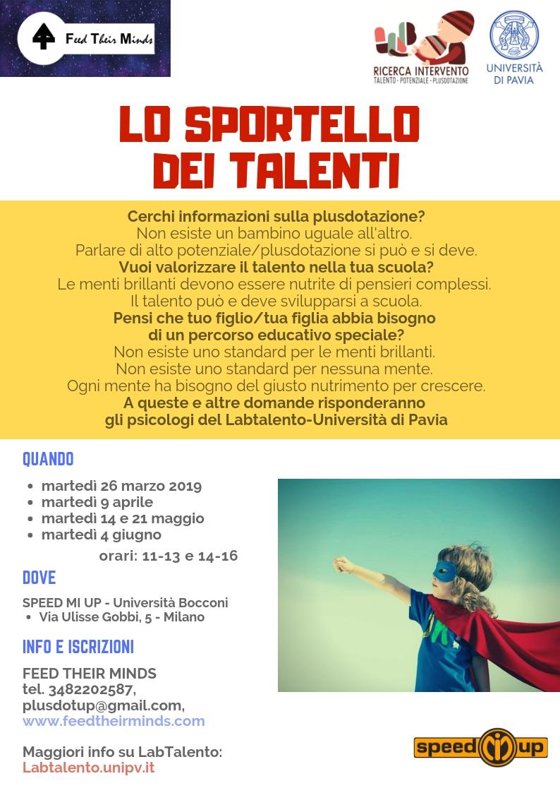 Sportello dei Talenti 2019primavera bis