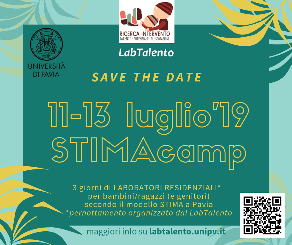 STIMA camp 2019 - save the date