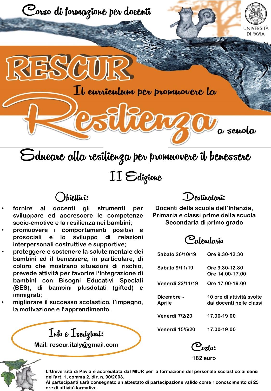 flyer formazione resilianza 2019-2020