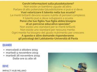 locandina SPORTELLO DEI TALENTI - autunno 2019