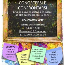 locandina CONOSCERSI E CONFRONTARSI 2019
