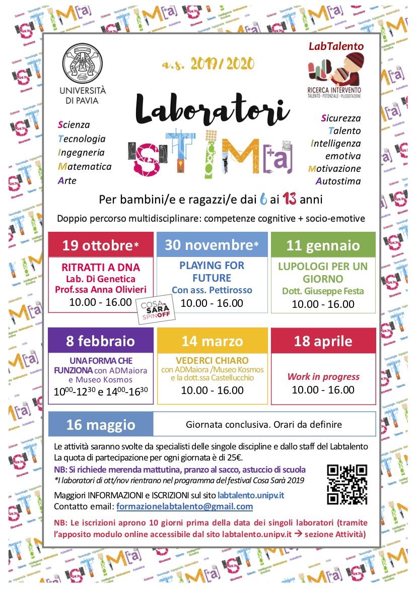 Locandina Laboratori STIMA as2019-2020 marzo