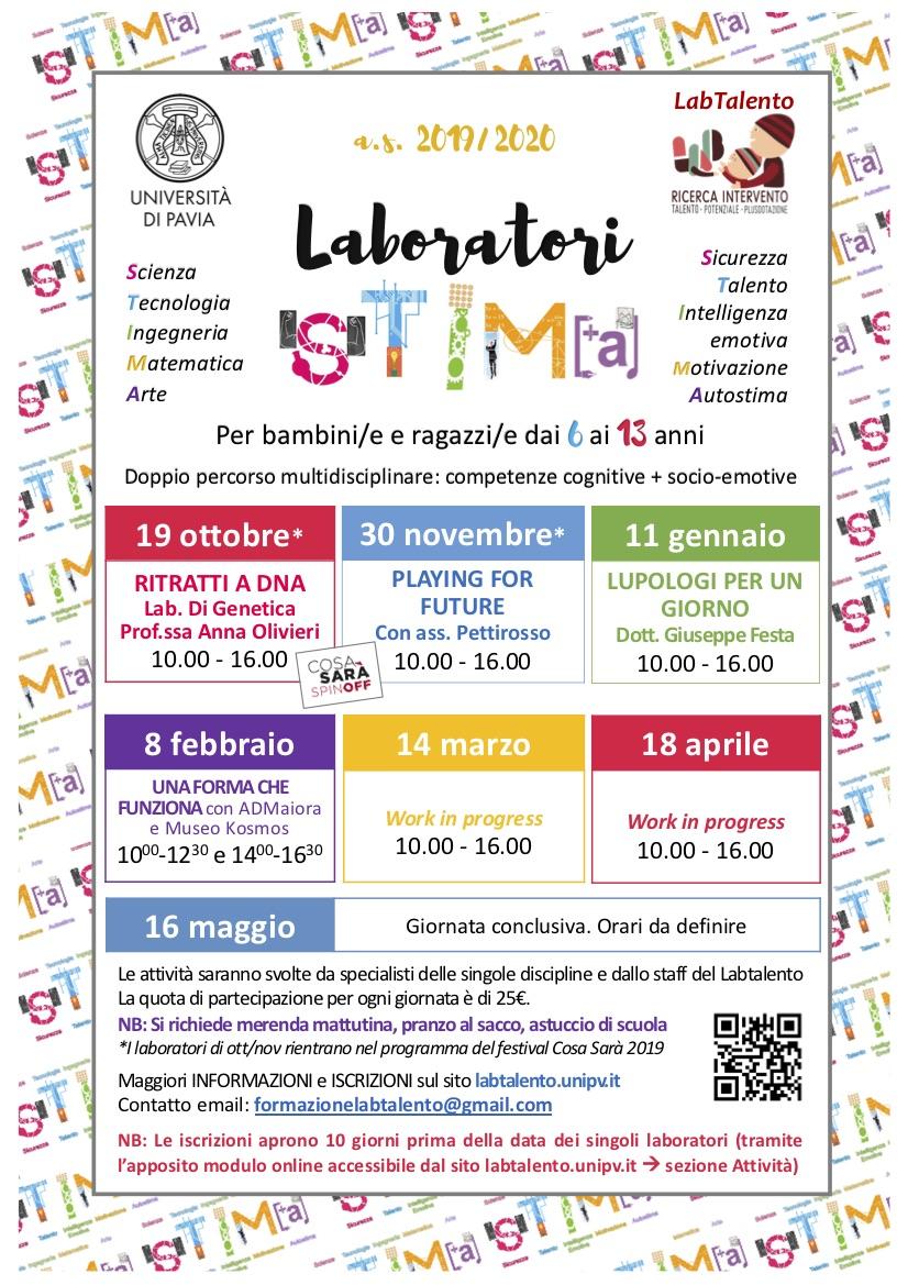 Locandina Laboratori STIMA as2019-2020febbraio