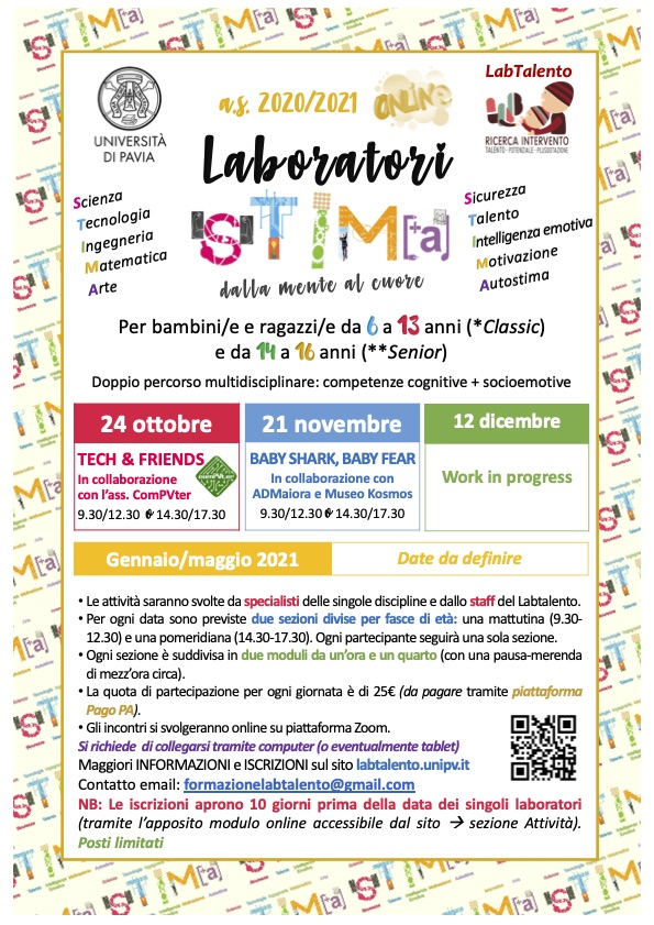 Locandina Laboratori STIMA as2020-21