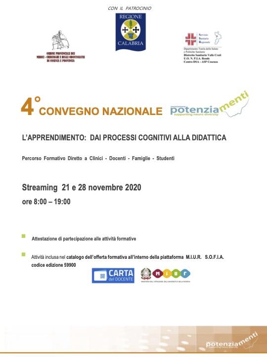 PROGRAMMA IV CONVEGNO NAZIONALE POTENZIAMENTI 2020
