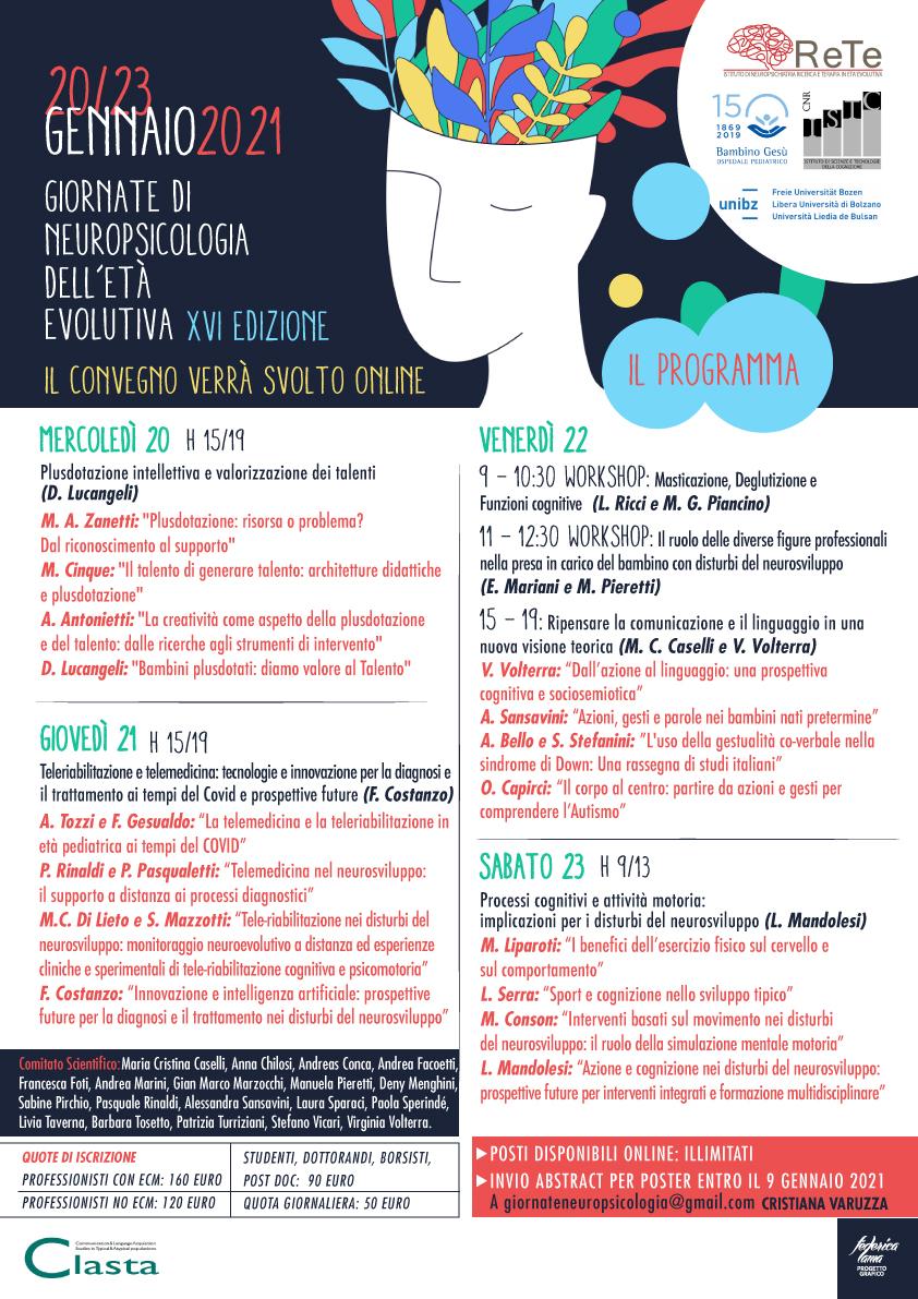 Giornate di neuropsicologia dell'età evolutiva_2021