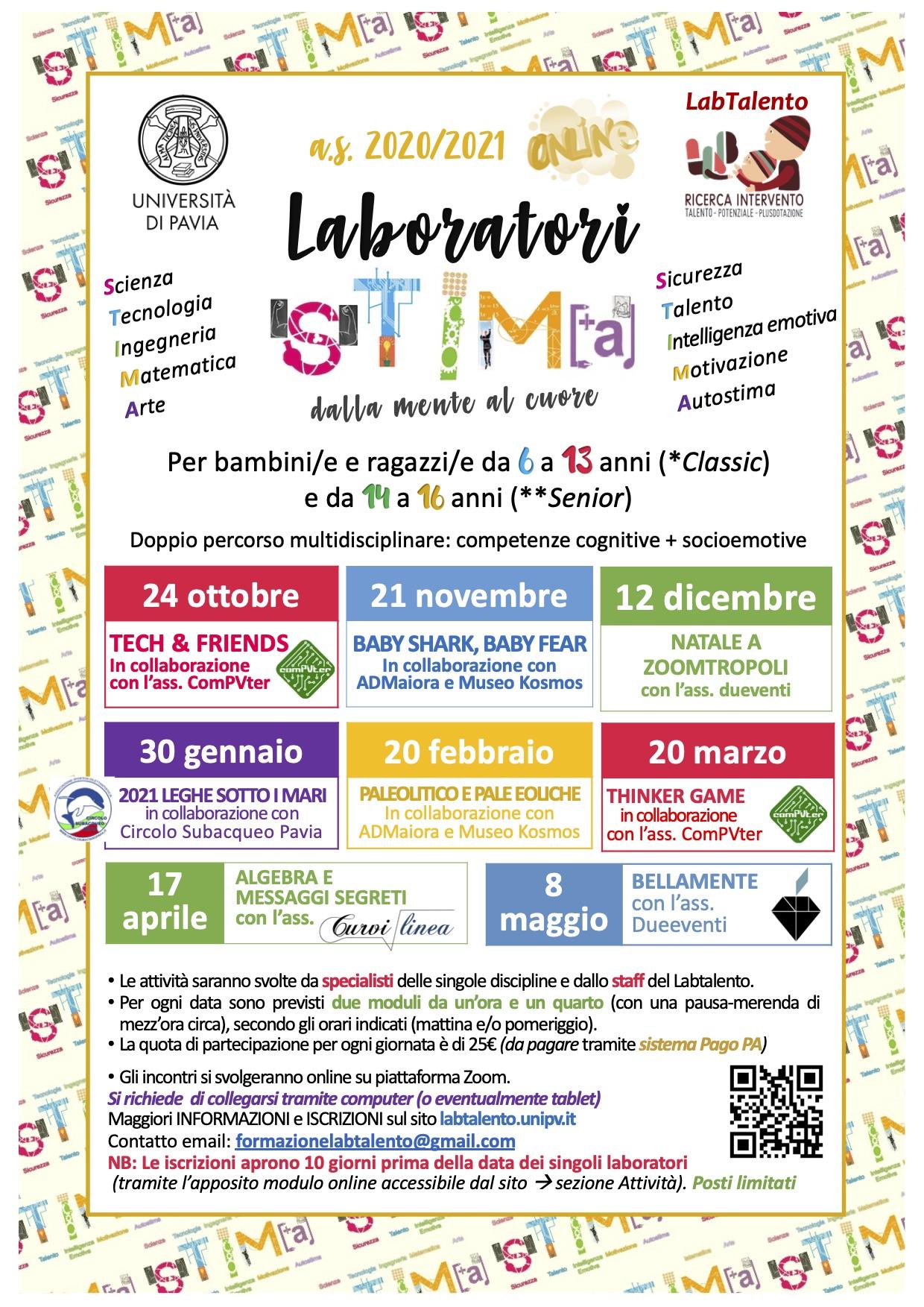 Locandina Laboratori STIMA as2020-21aprile