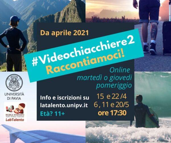 Locandina #Videochiacchiere2 aprile